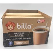 Mexedor/palheta Bambu P/ Café 10 Cm Billa - 2 Cx C/ 1000 Uni
