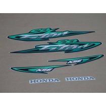 Kit Adesivos Honda Cg Titan 125 Kse 2003 Verde