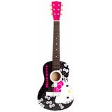 Guitarra Acústica De Hello Kitty, Negro Con Rosa