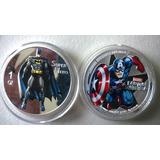 Monedas De Capitan America Y Thor, En Acabado Espejo
