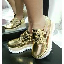 Plataforma Oxford Para Dama. Vestir. Zapato.elegante 35/40