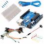 Kit Arduino Uno Proto Cables Led Resistencias Conector Kita