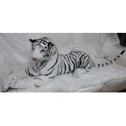 Tigre Gigante Grande Branco Pelúcia 1,6 Mts 160cm Decoração