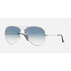 Óculos Ray-ban Rb3025 Aviador Original Prata Azul Degrade 90515001c0