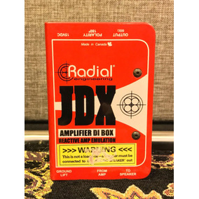 Radial Jdx Reactor Direct Box Com Speaker Emulator