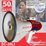 Megafono De 50w Altoparlante Con Usb Sc30li