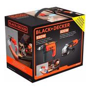 Amoladora 115mm 820w + Taladro 13mm 550w Black&decker Hg7255