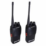 2 Peças Rádio Transmissor Walkie Talkie Uhf Vhf 5km 2 Fones