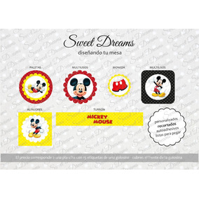 Stickers De Mickey Cortados Para Candy Bar O Mesa Dulce