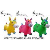 2x Cavalinho Upa Upa Pula Pula Musical Inflável Acende Luz