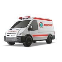 Carrinho Infantil Supervan Van Omg Ambulância - Omg Kids