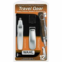 Kit Whall Travel Gear Máquina De Aparador De Pelos E Nariz