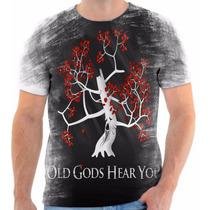 Camisa Camiseta Game Of Thrones Masculina Deus Ouve Você Vc