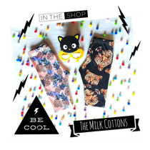 Calza Estampada Lycra Niña Piña-tiger T. 10-the Milk Cottons