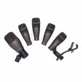 Paquete De 5 Micrófonos P/ Bateria, Samson Dk705