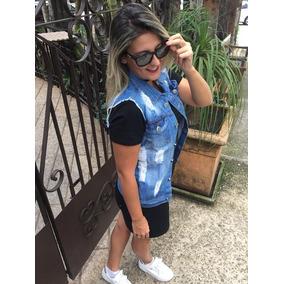 Colete Jeans Comprido Feminino Maxi Promoção Tendência 2018