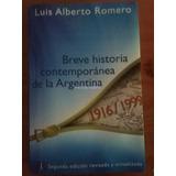9072 Libro Breve Historia Contemporanea De La Argentina