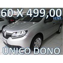 Renault Sandero Flex Modelo Novo Entrada + 60 X 499,00 Fixas