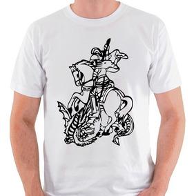 Camiseta São Jorge Santo Religião Candomblé Camisa Blusa