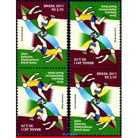 C-3166 2011 Rel.diplomaticas Qatar Catar - Os 2 Tête-bêches