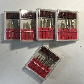 5 Cxs Refil Lixa Elétrica De Unha Manicure - Brocas E Lixas