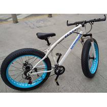 Bicicleta Llantas Anchas Fat Amortiguador 26 Freno Disco