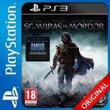 Sombras De Mordor Ps3 La Tierra Media Digital Nº1 En Ventas
