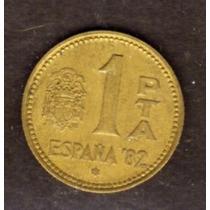 España 1 Peseta 1980 Mundial 82 Buena Liquido Vea
