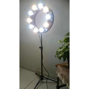 Ring Light Tripé Alumínio Iluminação Fotografia Make
