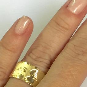 Oferta Anel Alianca Escrava Egipcio 10 Mm Ouro Amarelo 18k