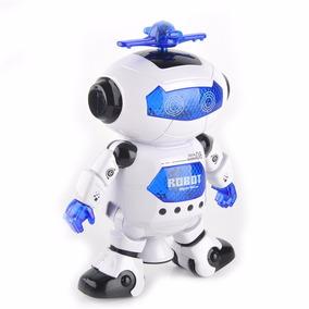 Robô Azul Astronauta Space Com Música Que Dança A Pilha