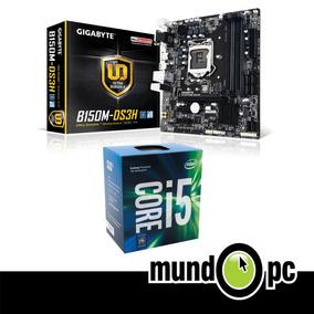 Combo Gigabyte Tarjeta B150m-ds3h + Procesador Intel I5 7ma