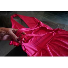 Vestido Fucsia Con Espalda Descubierta Para Dama