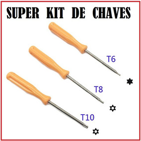 Kit 30x Chaves Torx T8 T10 T6 Abre Ps3 Ps4 X360 Xbox One