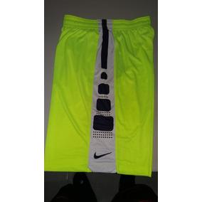 Pantaloneta Basketball Nike Elite Color Neon-blanca-negro