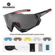 Óculos De Ciclismo Polarizado Clip Grau 5 Lentes Rockbros