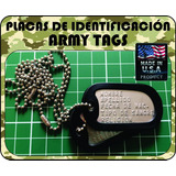 Placa Identificacion Militar Army Tags Color Mate