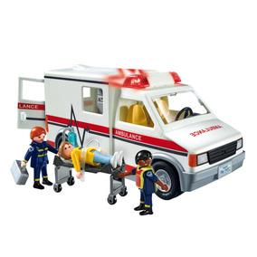 Playmobil Ambulancia Con Luz Y Sonido + 3 Figuras 5952