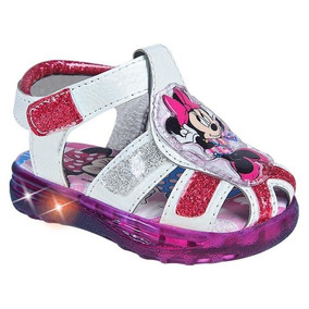 Tenis Led Rosa Blanco Minnie Mouse Disney Mod 2535