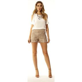 Shorts Paetes Leather Em 20 - Hsa7199
