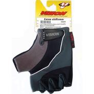 Luva Vision P103 Meio Dedo Com Gel Preta Com Cinza