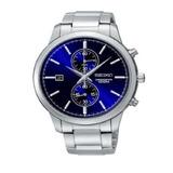 Reloj Seiko Snn273 Hombre Cronografo Sumergible Azul Titanio
