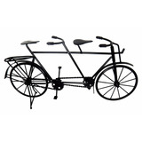 Bicicleta Ferro Miniatura Vintage Retro 2pedal Mesa 42 Preto