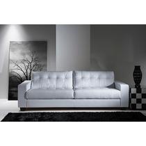 Sofá Couro Natural 3 Lugares - Conforflex 6406-couro Branco