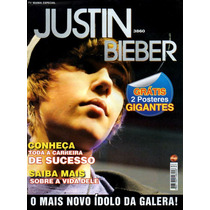Revista Pôster Justin Bieber = C/ 2 Posters Do Justin Wow!