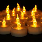 Vela Velita X 36 Unidades Luz Led Calida Llama Pila Incluida