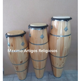 Jogo De Atabaque Com Rum; Rumpi; Lê Artigos Religiosos
