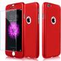 Capinha Case Iphone 5/6/7/plus Frente E Verso Vermelha 360