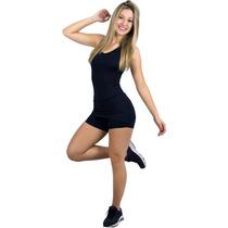 Macaquinho Feminino Fitness Tapa Bumbum Roupa Para Academia