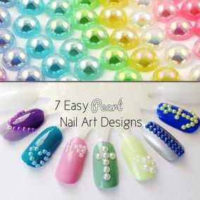 3,300 Medias Perlas Colores Decoración Uñas Swarovski 3d